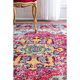 Oriental Vintage Distressed Abstract Multi Runner Area Rugs, 2 Feet 6 Inches By 8 Feet (2\' 6\
