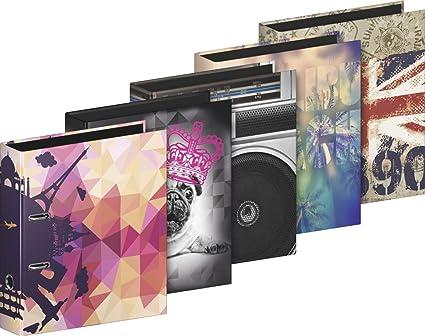 Brunnen 102042806 archivador (A4, 8 cm ancho de lomo 8 cm, 5 diseños