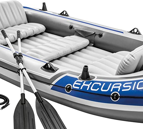 Intex 68325NP - Barca Hinchable Excursion 5 con 2 Remos 366 x 168 x 43 cm: Amazon.es: Deportes y aire libre
