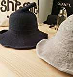 Luoke Women Summer Witch Cotton Sun Hat Foldable