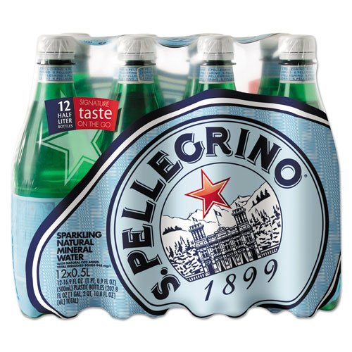 San Pellegrino Mineral Water (San Pellegrino Sparkling Natural Mineral Water, 16.9 Ounce Bottles (Pack of 12))