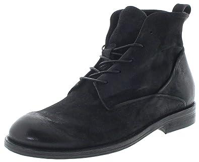 FB Fashion Boots AS98 Herren Schuhe 490214 Nero Lederstiefelette Schnürstiefel Schnürschuhe Schwarz