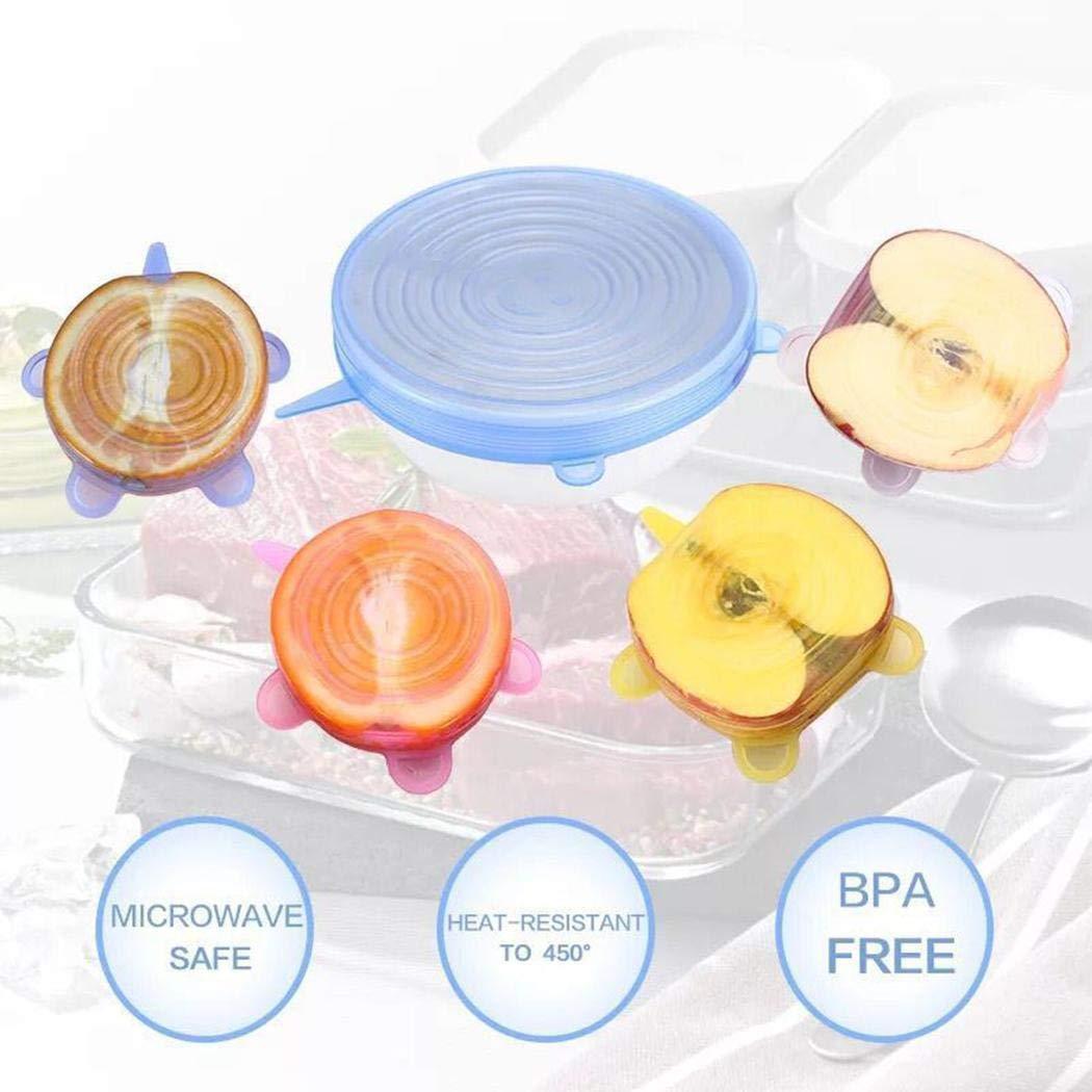 Tinement Tapa Reutilizable de Silicona Reutilizable de 4 pzs. Tapas para latas