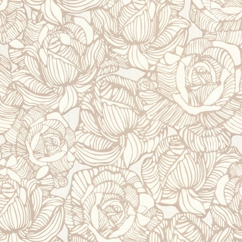 Beacon House 450-67344 Calista Beige Modern Rose Wallpaper, (Beacon House Wallpaper)