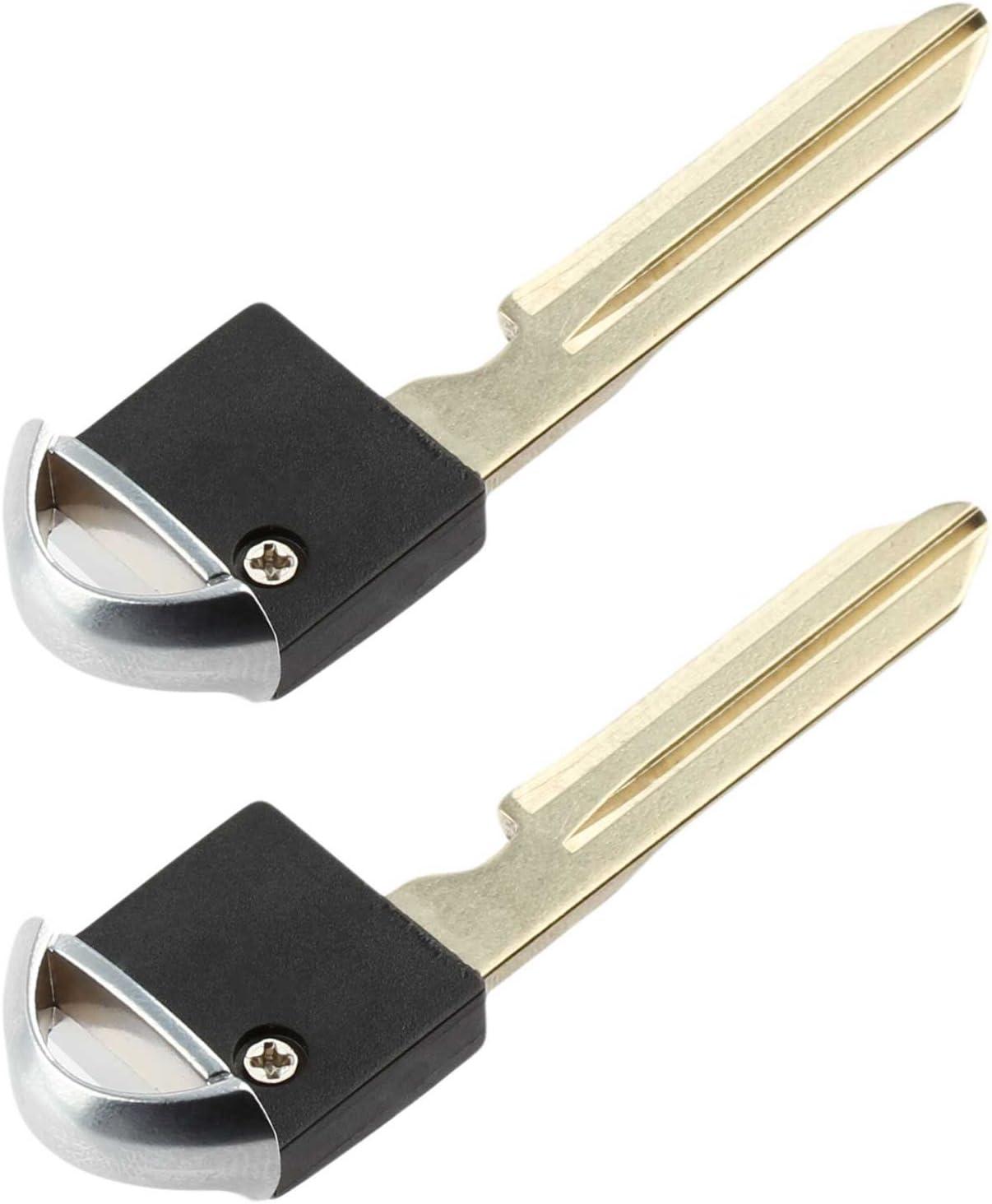 KeylessOption Keyless Entry Remote Fob Emergency Insert Key Uncut Blade Blank No Chip for Nissan Infiniti Smart