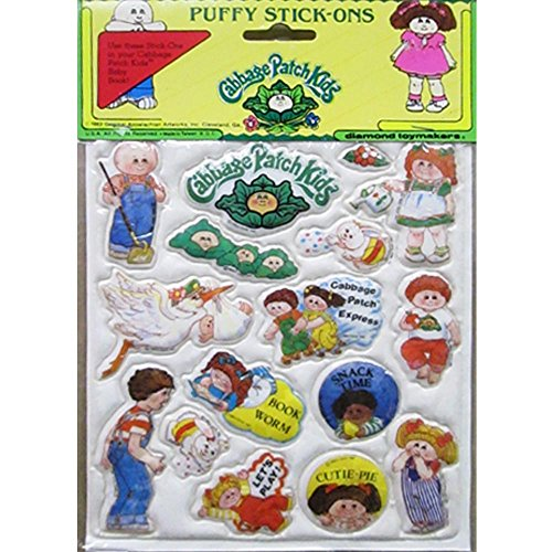 Cabbage Patch Kids Vintage Puffy Stickers Style 6 (1 sheet)