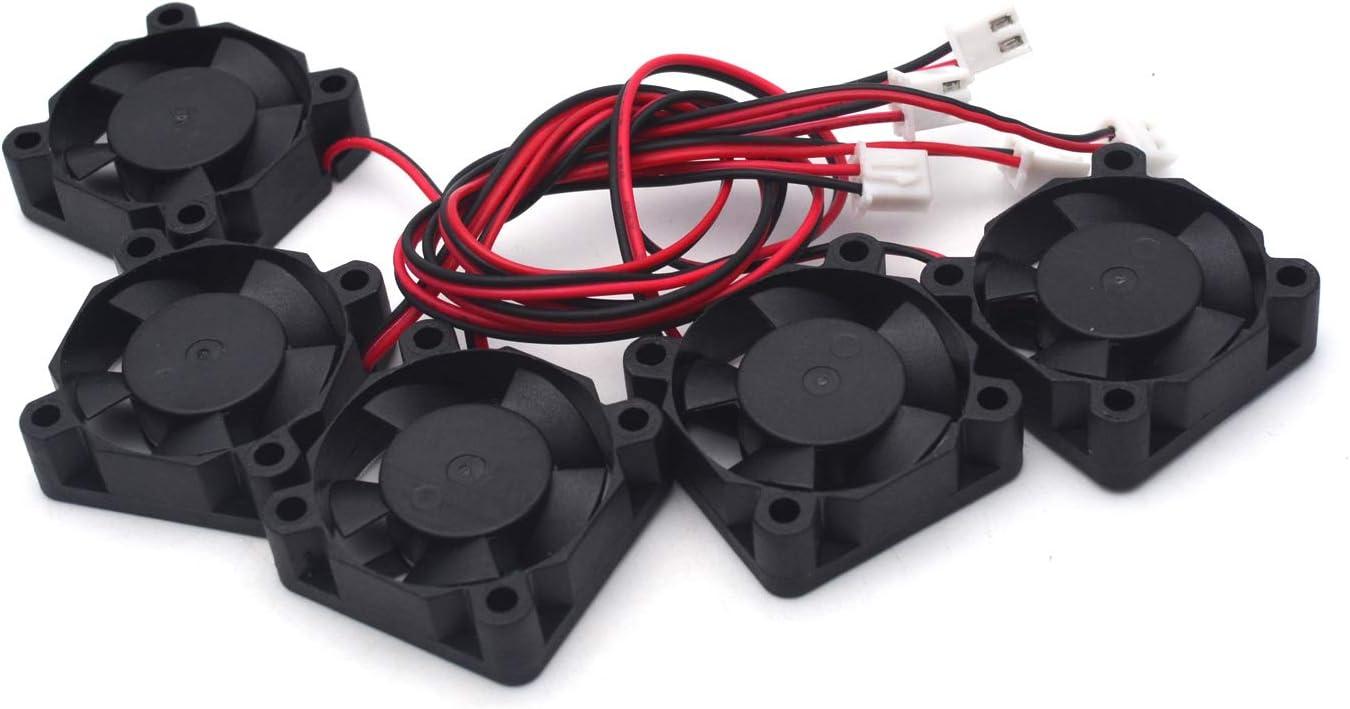 Antrader 3010 12V DC Brushless Cooling Fan 30x30x10mm for DIY 3D Printer Extruder Hotend V6 V5 CPU Arduino Humidifier Pack of 5