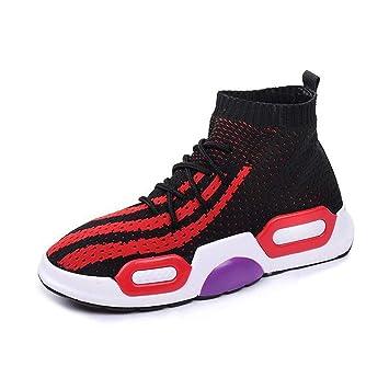 DAMENGXIANG Primavera Otoño Sock Sneakers Mujer Moda Elasticidad Transpirable Zapatillas Slip En Hip Hop Calcetines Zapatos