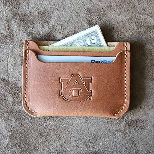 The Officially Licensed Auburn Bradford Front Pocket Double Sleeve Fine Leather Wallet