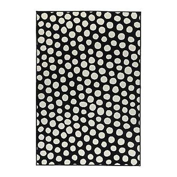 Ikea Ullgump Teppich Kurzflor Schwarz Weiss 133x195 Cm Amazon De
