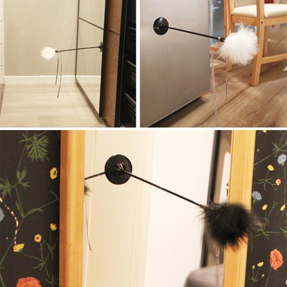 Yunt Juguete de plumas para gatos, con plumas de Turquía y peluca interactiva para gatos con base de hebilla: Amazon.es: Hogar