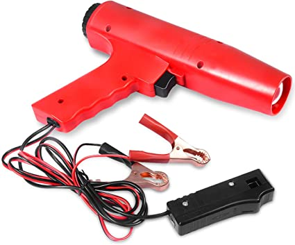 Goplus Zündeinstelllampe Blitzpistole Zündung Timing Light Stroboskoplampe Zündlichtpistole Zündzeitpunktpistole 12v 250 X 55 X 180 Mm Auto