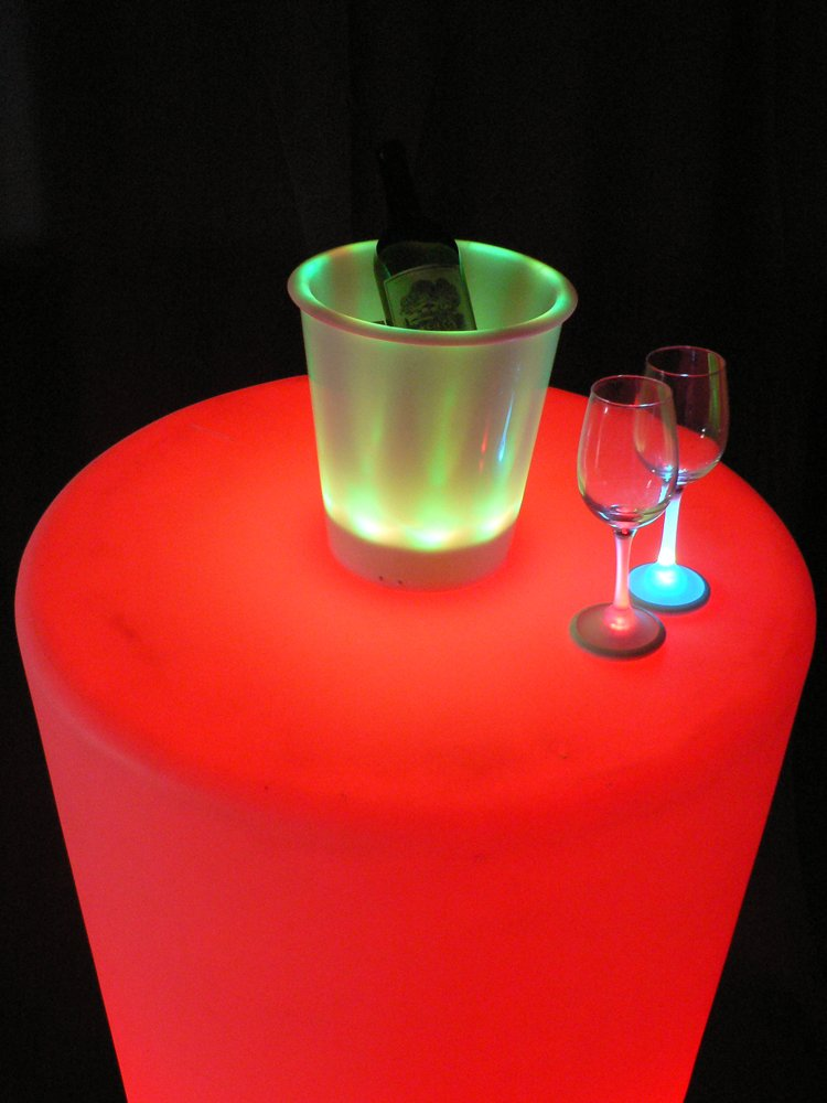180oz Capacity Multi-Color 9.25 Diameter x 11.5 Height Inc. 9.25 Diameter x 11.5 Height Fortune Products IB-RGBW9 LED Lighted Ice Bucket