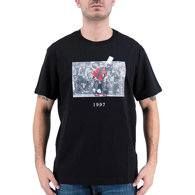 Throwback | Camiseta Michael Jordan DE ALGODÓN Negro | THR_TBTFLUGAME: Amazon.es: Ropa y accesorios
