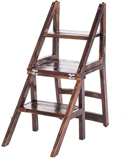 Zichen Asiento Taburete Escalera de almacenamiento Taburete/escaleras de tijera Silla de escalera plegable Taburete Escalera Escalera de madera Tres escalones Ascender Capacidad de carga fuerte Tabu: Amazon.es: Instrumentos musicales