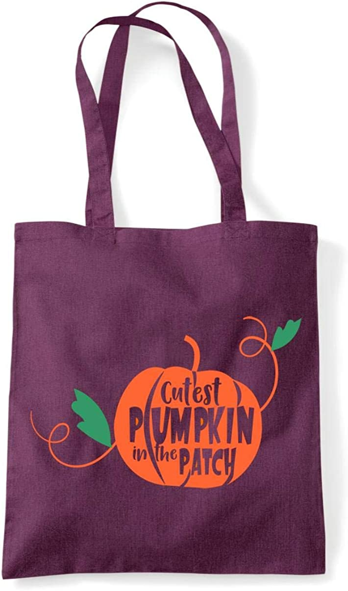 Cutest pumpkin in the patch style one tote shopping bag