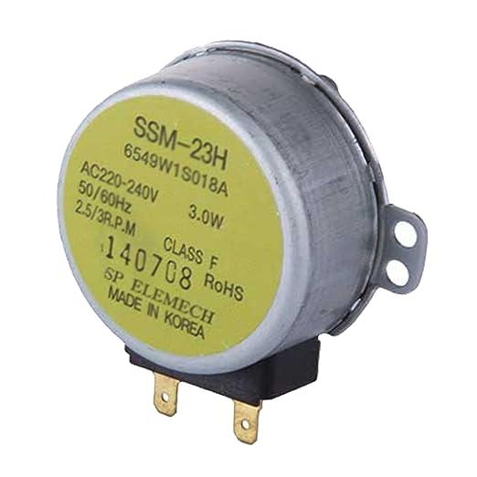 Spares2go SSM-23H tipo cristal Tocadiscos placa Motor (3.0 W ...
