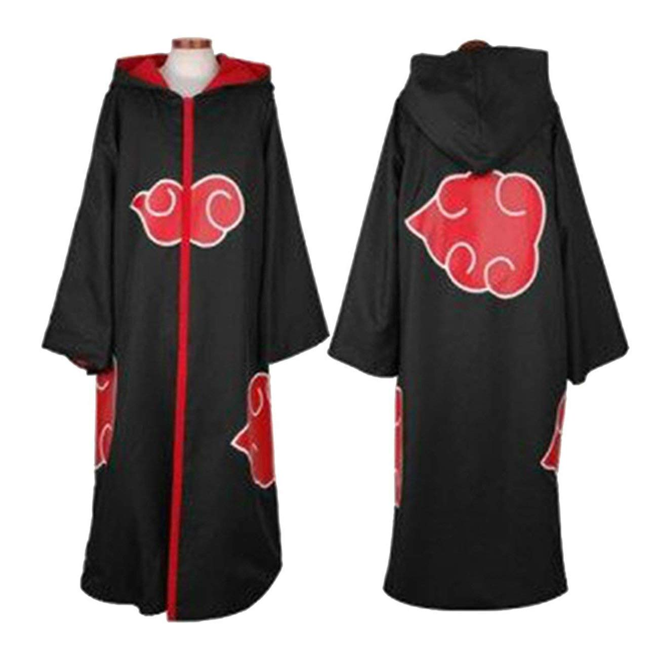 Aries Tuttle The Naruto Unisex Akatsuki Cloud Cosplay Costume Uniform Cloak Hoodie Robe Outerwear