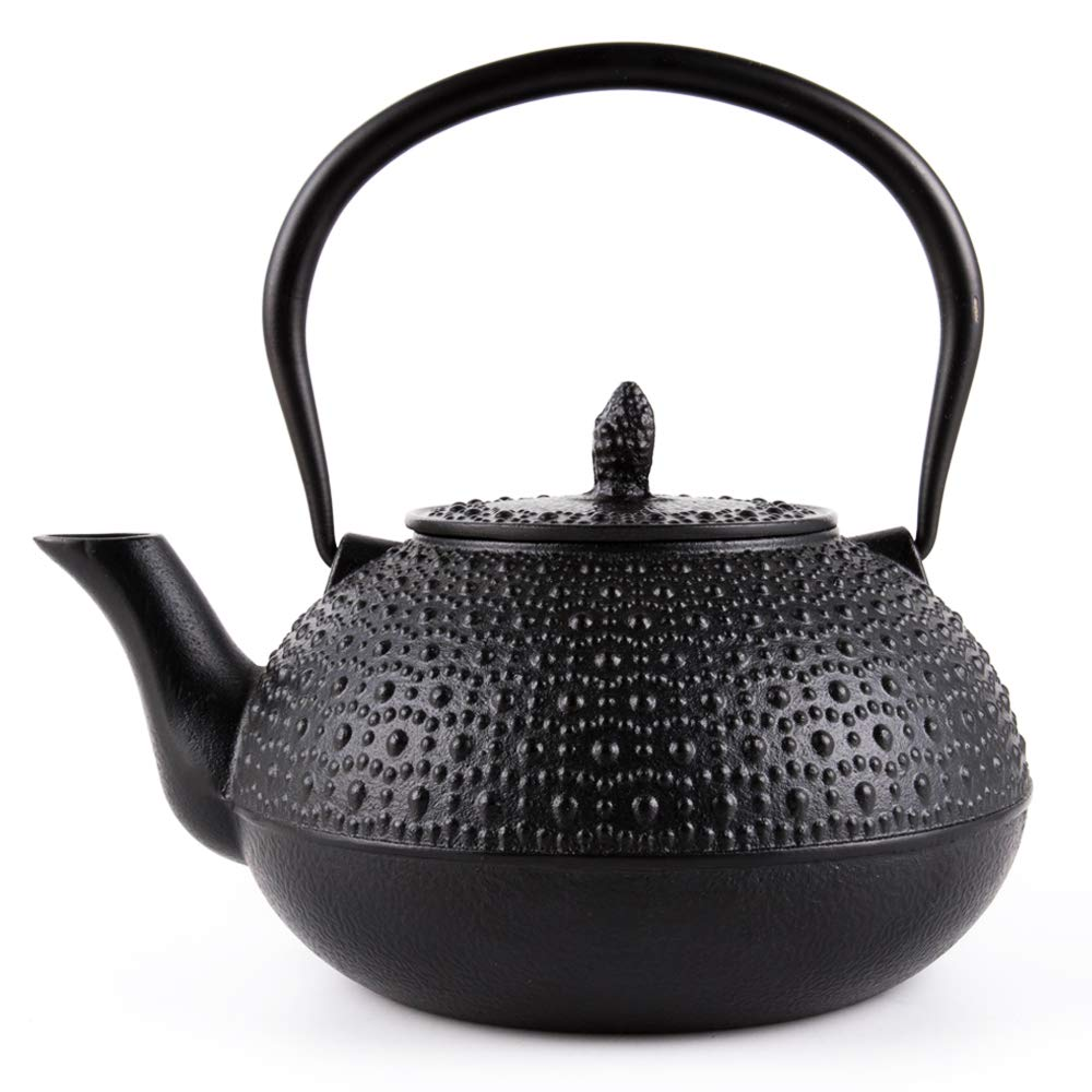 SUTEAS Japanese Tetsubin Tea Kettle Cast Iron Teapot with Infuser 65oz 1.85 Liter