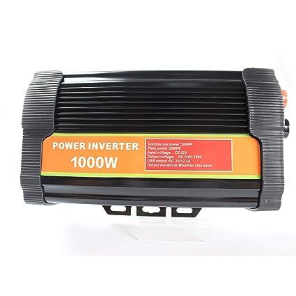 Cghfo 1000W inversor del Coche DC 12V a 110V inversor de la ...