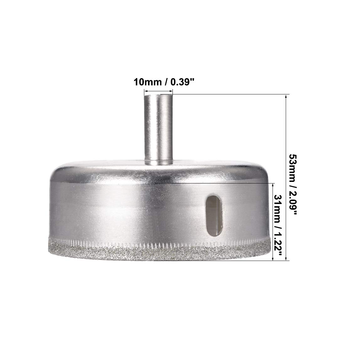 uxcell/® 50mm Diamond Drill Bits Hole Saws for Glass Ceramic Porcelain Tiles