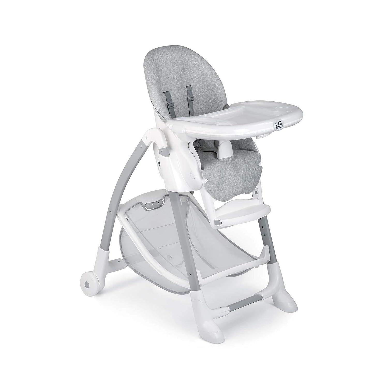 Abwaschbares Kissen Grau Tablett CAM Hochstuhl GUSTO Baby-Stuhl mitwachsend /& vielseitig verstellbar inkl Made in Italy Kinder-Hochsitz Weiche Polsterung /& verstellbarer Gurt
