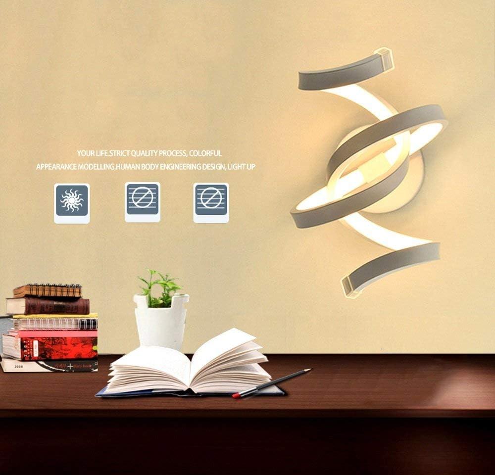 HAOQI Lampada da parete a luce diffusa in acrilico con luce a parete moderna da soggiorno