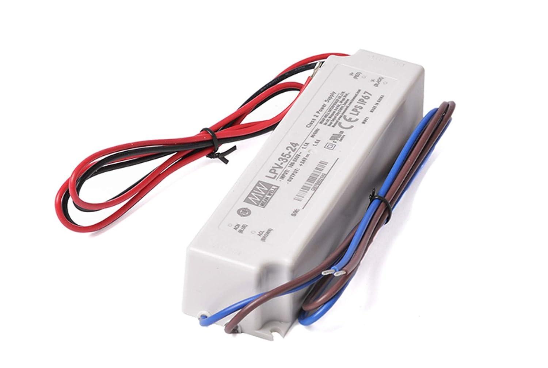 code 1571 MeanWell Transformateur AC//DC Meanwell LPV-150-24 150W DC 24V Imperm/éable /à leau IP67 Bloc dalimentation transformateur Switching pour Produits LED KingLed