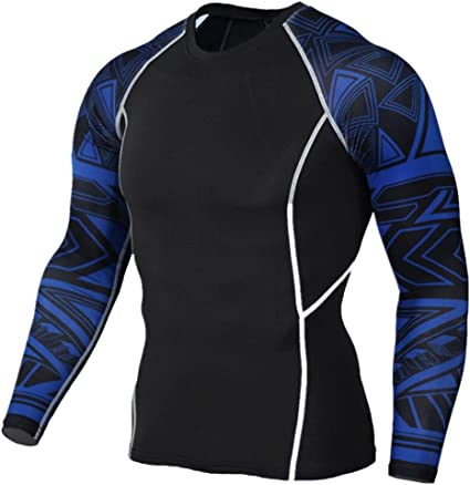 Short Sleeve Blue, XL 1Bests Mens Athletic Running Basketball Tight Tops Sports Fitness Quick-Drying Compression Shirts