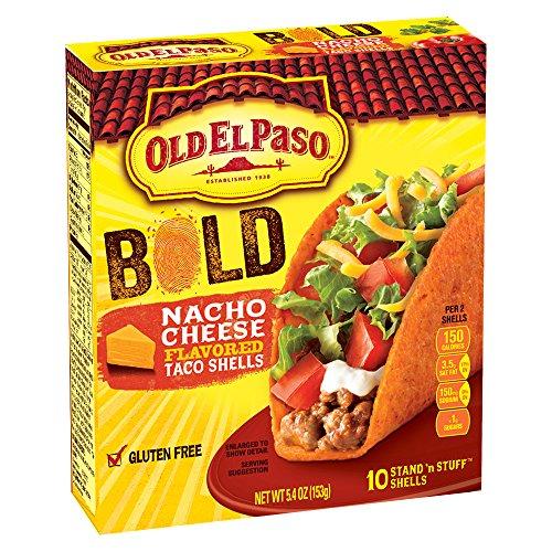 (Old El Paso Taco Shells - Nacho Cheese - 5.4 oz)
