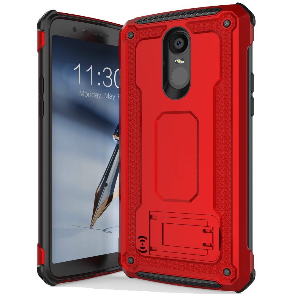 Anccer Anti Fingerprint for LG Stylo 3 Case LG Stylus 3 Case Anti Shock Dual Layer Full Body Protective Slim Armor Case for LG Stylo 3 Plus (Red)
