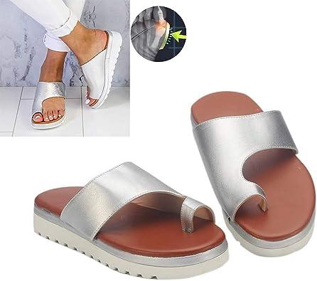 Damen Bogen Sommer Sandalen Schuhe Strand Flache Flops Schlappen Pantoffel