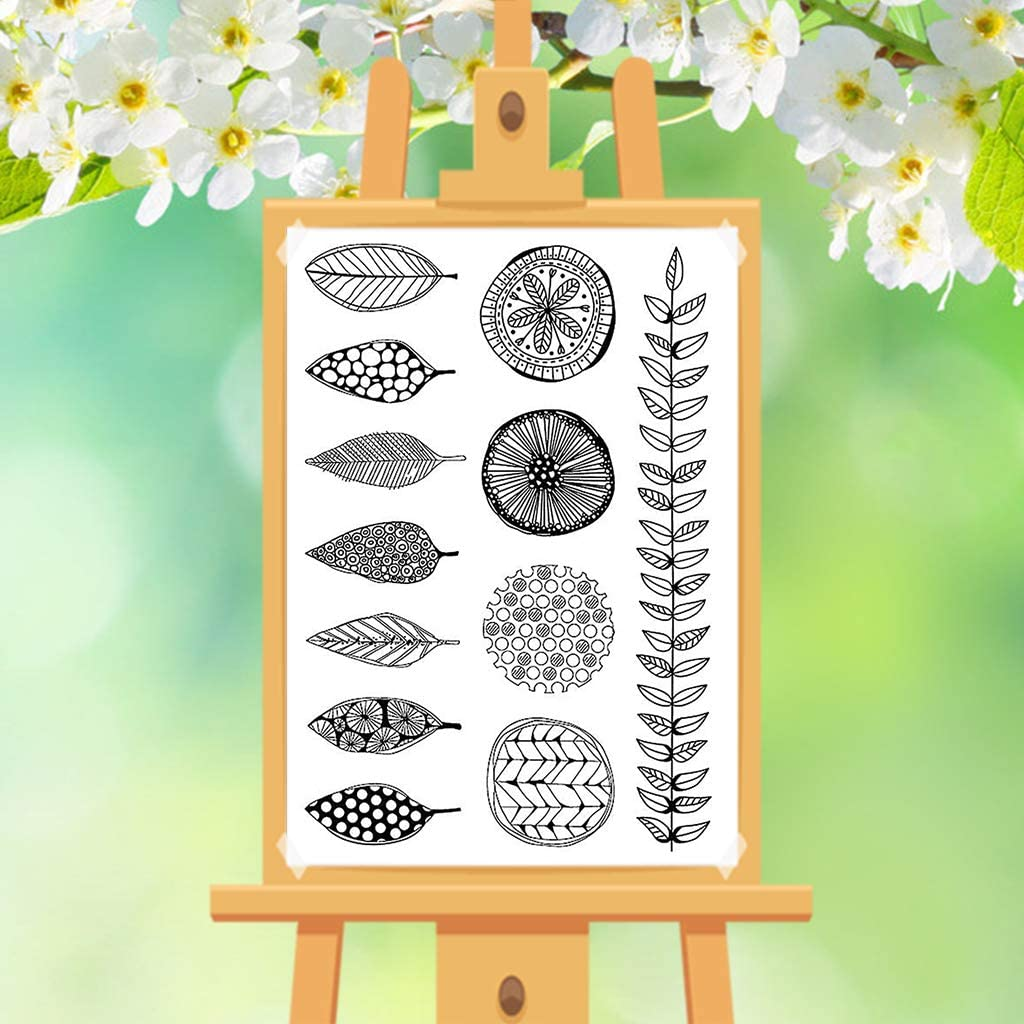 Silicone Stamps for DIY Scrapbooking Album Paper Cards Making Decoration Autone Leaves Clear Stamps for Cards Making
