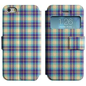 LEOCASE patrón checkerd Funda Carcasa Cuero Tapa Case Para Apple iPhone 5 / 5S No.1003289