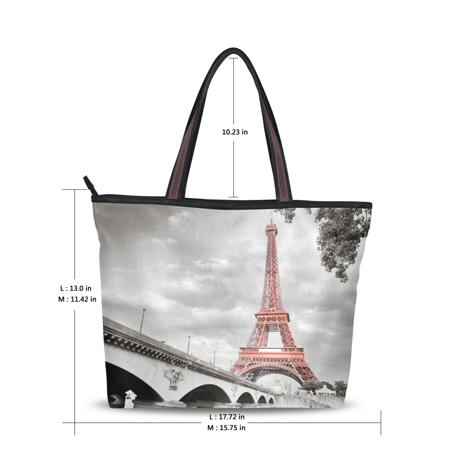 Women Large Tote Top Handle Shoulder Bags Tower Ladies Handbag