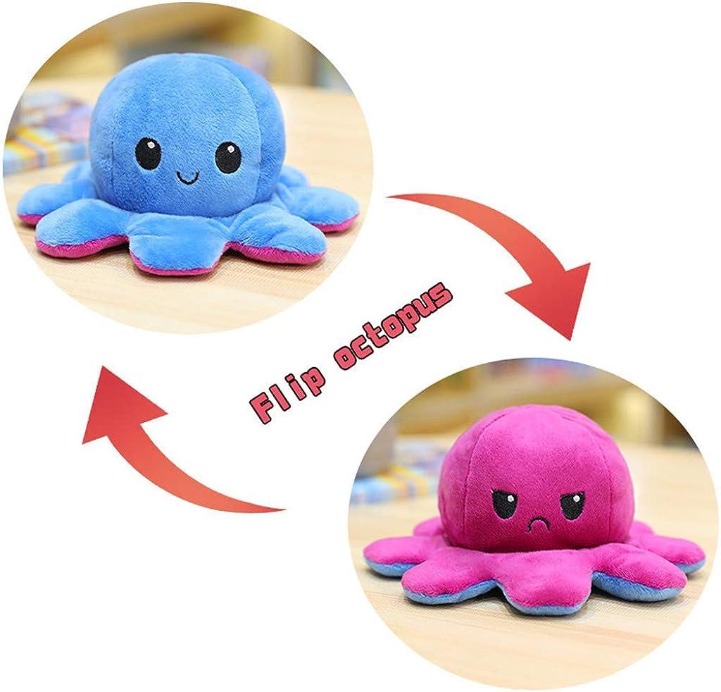 40CM Optopus Poup/ée de poulpe r/éversible double face en peluche super douce pour enfants Un excellent cadeau danniversaire pour les enfants