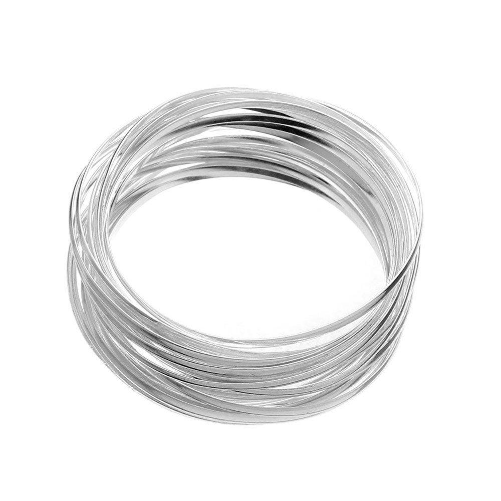 eca724aab024 Classic Beautiful 925 de plata de ley aro pulido pulsera Unisex  Amazon.es   Joyería