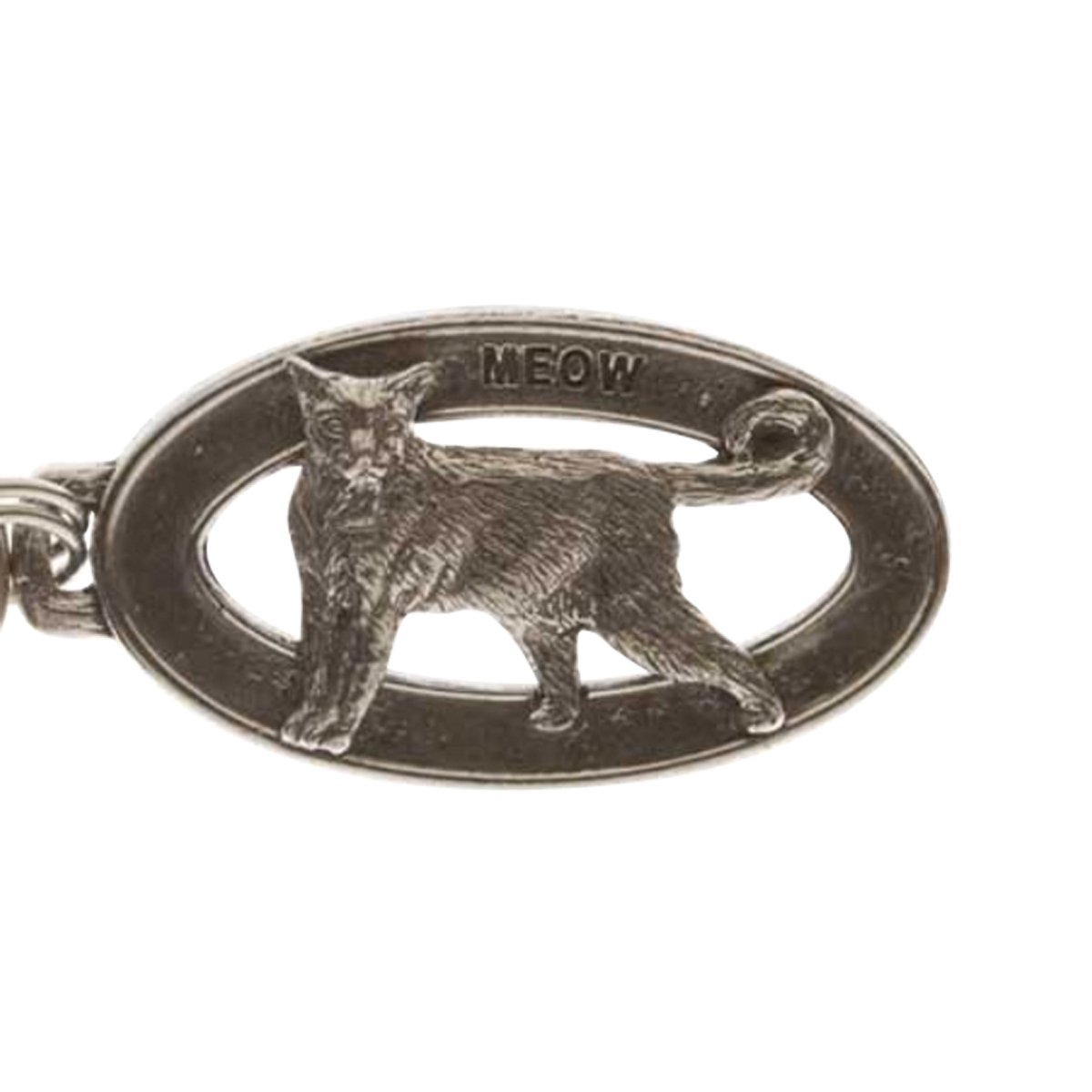 Creative Pewter Designs, Pewter Cat Standing Key Chain, Antiqued Finish, CK009