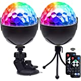 Lukasa Disco Ball Party Lights,Sound Activated Disco Lights with Remote Control,7 RBG Modes Atmosphere Strobe Light for Home