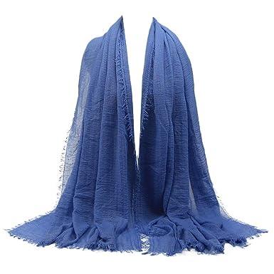 712d7cc5e002 Echarpes et foulards Amlaiworld Femmes Hijab pour femmes musulmanes voilées  I Foulard voile turban écharpe pashmina châle islamique I Mousseline de  soie ...