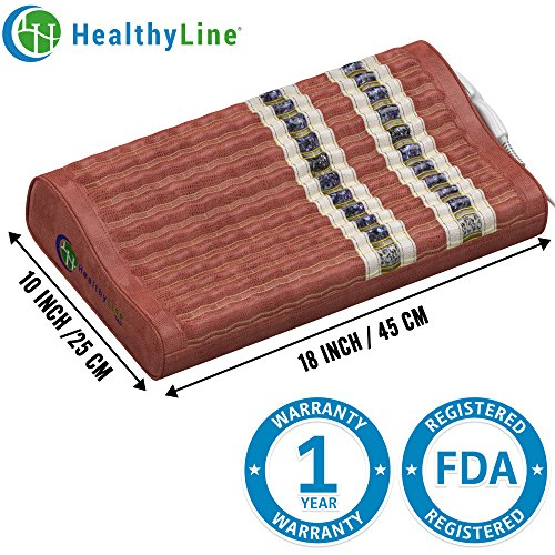 HealthyLine Natural Soft Memory Foam  Pillow - Neck and Shoulder Support - 18