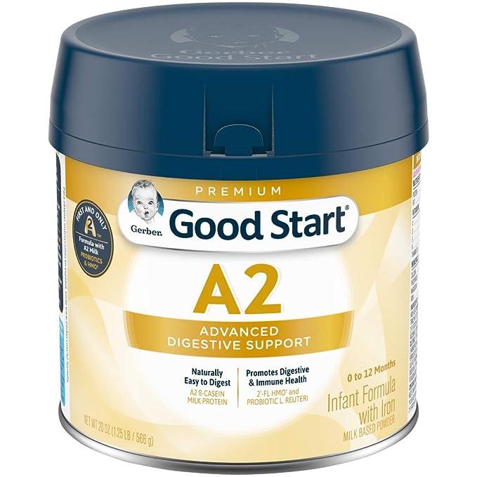 Gerber Good Start Infant Formula A2 Milk Hmo Non Gmo Powder Stage 1 20 Ounces Amazon Com Grocery Gourmet Food