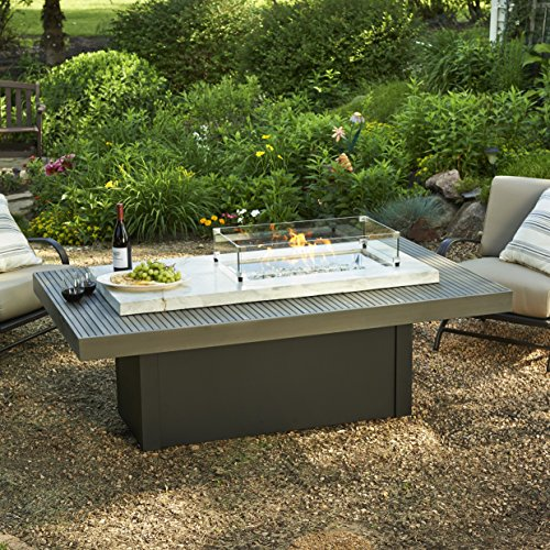 outdoor great room crystal fire coffee table onyx top