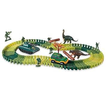 1Buy 109 Unidades Dinosaurio Carro Armado Carro Armado Eléctrico, hazlo tú Mismo Construir, Montado vía Capa vías de construcción Juguete y Playset ...