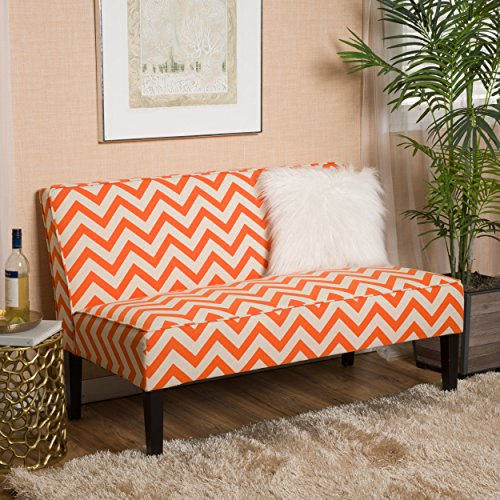 Alpha Orange Pine Loveseat