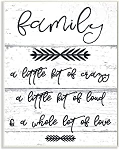 Stupell Industries A Little Crazy Loud Love Family Wall Plaque, 10 x 15, Design by Artist Daphne Polselli