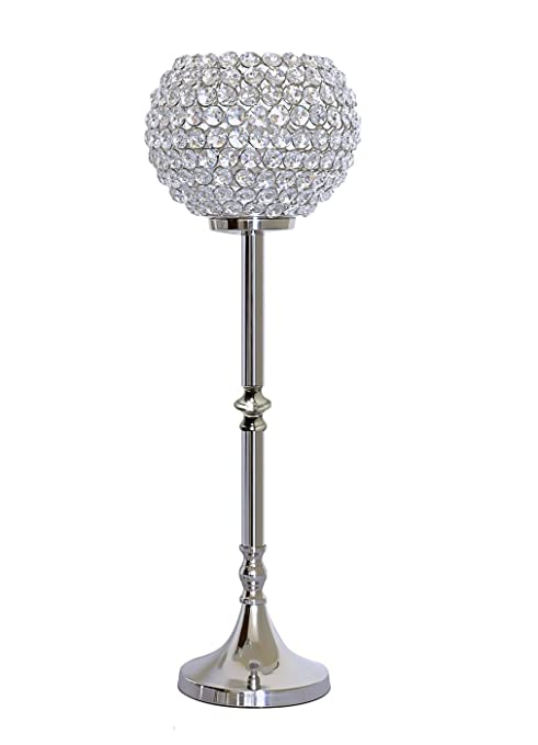 Amazon Tall Crystal Ball Pillar Candle Holders Wedding