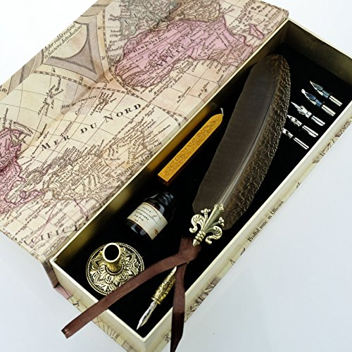 GC-QUILL-Antique-Feather-Quill-Pen-Set-with-Golden-Calligraphy-Holder-and-Hand-Carved-Dip-Stem