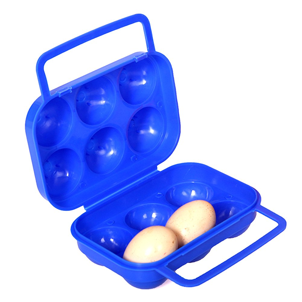 Outdoor Camping Hiking Picnic Portable Folding Plastic Egg Carrier Holder Storage Container Box Case with Handle for 6 Eggs by AUTODOA B010SD3AQO