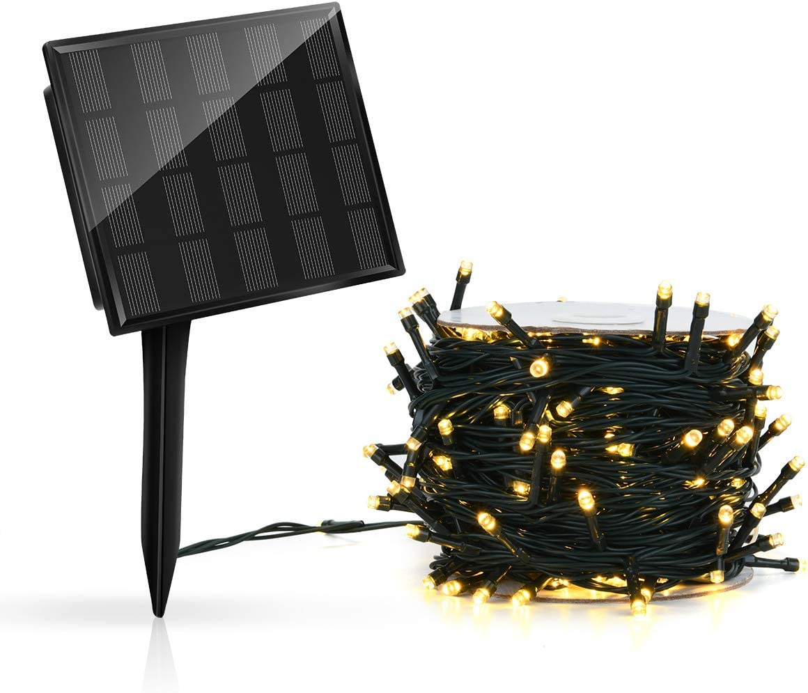 Outdoor Solar Powered LED String Fairy Lights, Decorative for Patio, Garden, Gate, Yard, Party, Wedding, Christmas, Tree 164ft, 500 LED